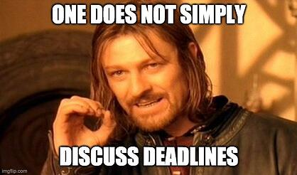 meme about translation services never discussing deadlines