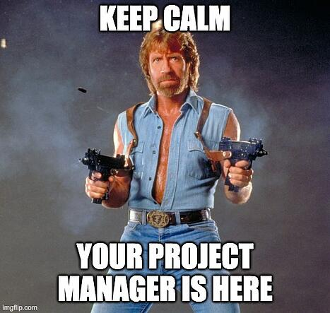 Chuck Norris project manager meme
