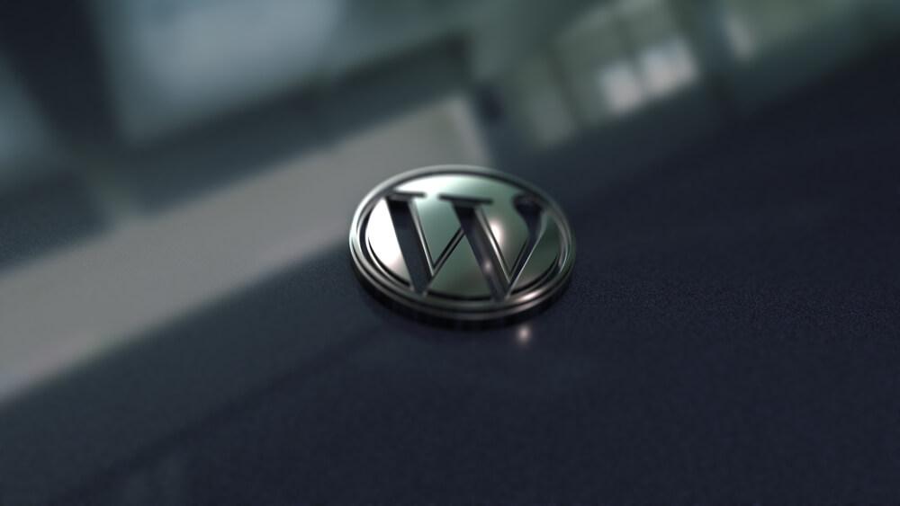 WordPress logo close up