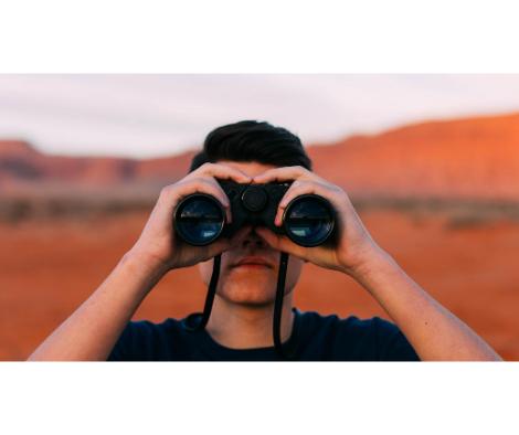 a man looking for translators