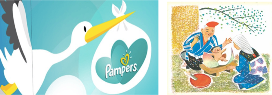 pampers ad in Japan
