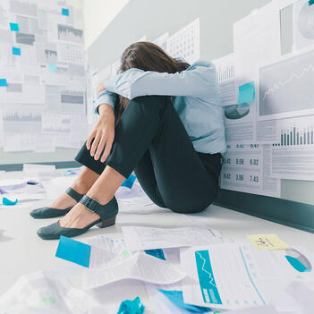 marketing specialist overwhelmed with reviewing translation