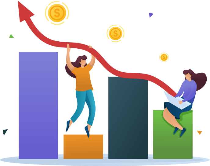 vector image illustrating business growth
